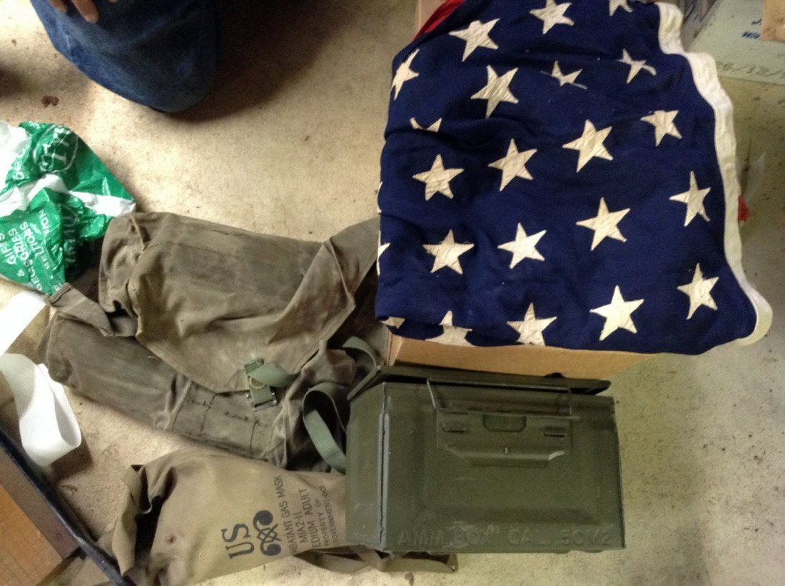 48 Star Flag and Military Items