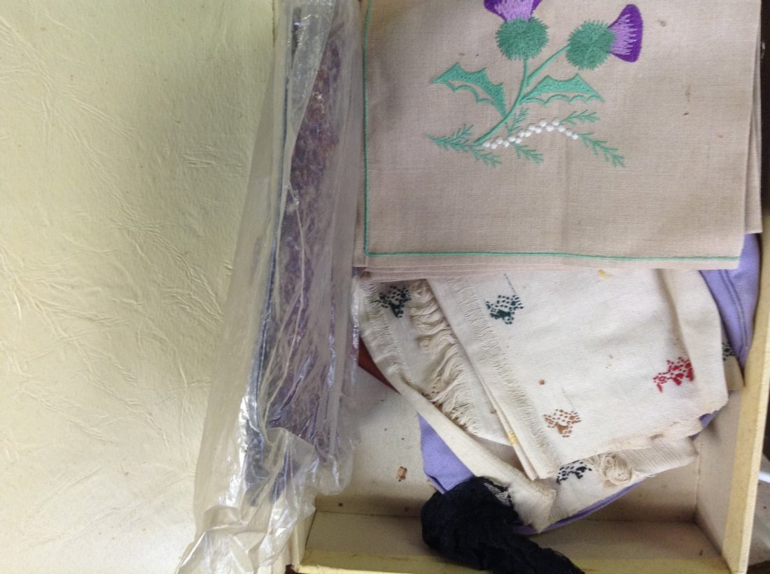 Box of embroidery