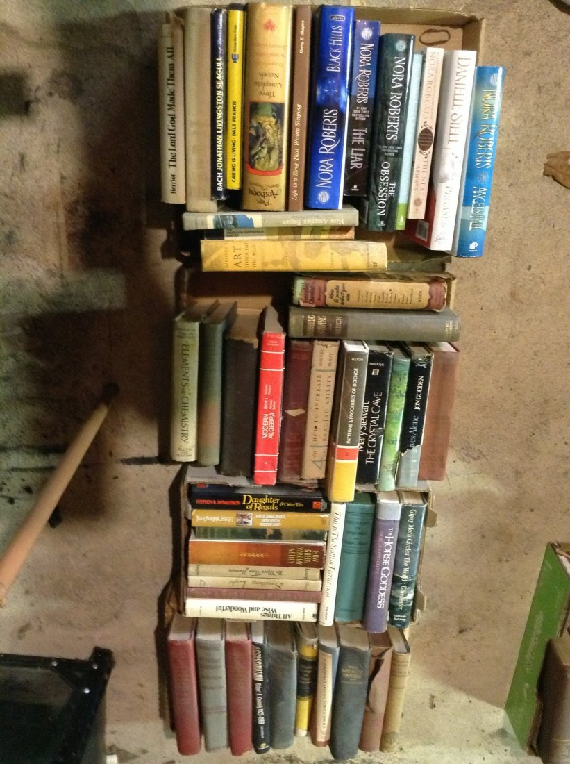 4 boxes of vintage hardcover books