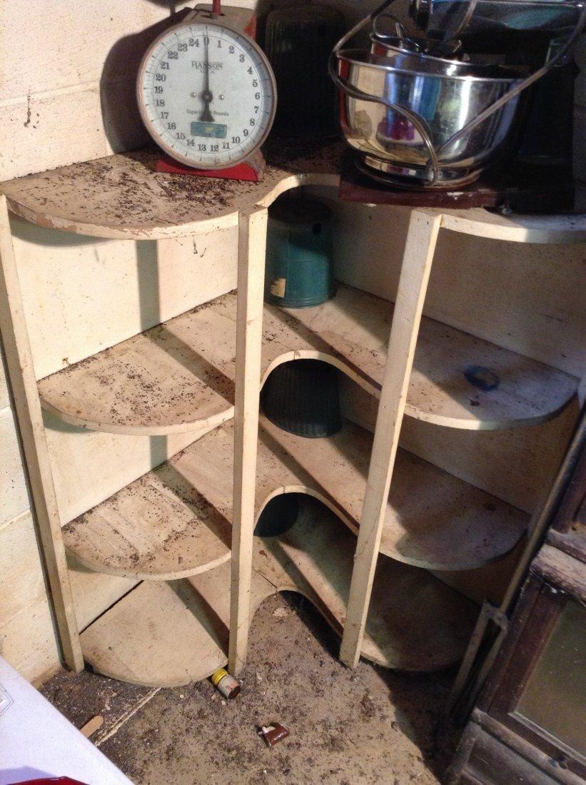 Wood Corner shelf unit