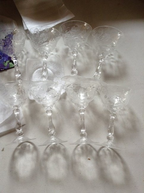 Lot of 8 Crystal goblets