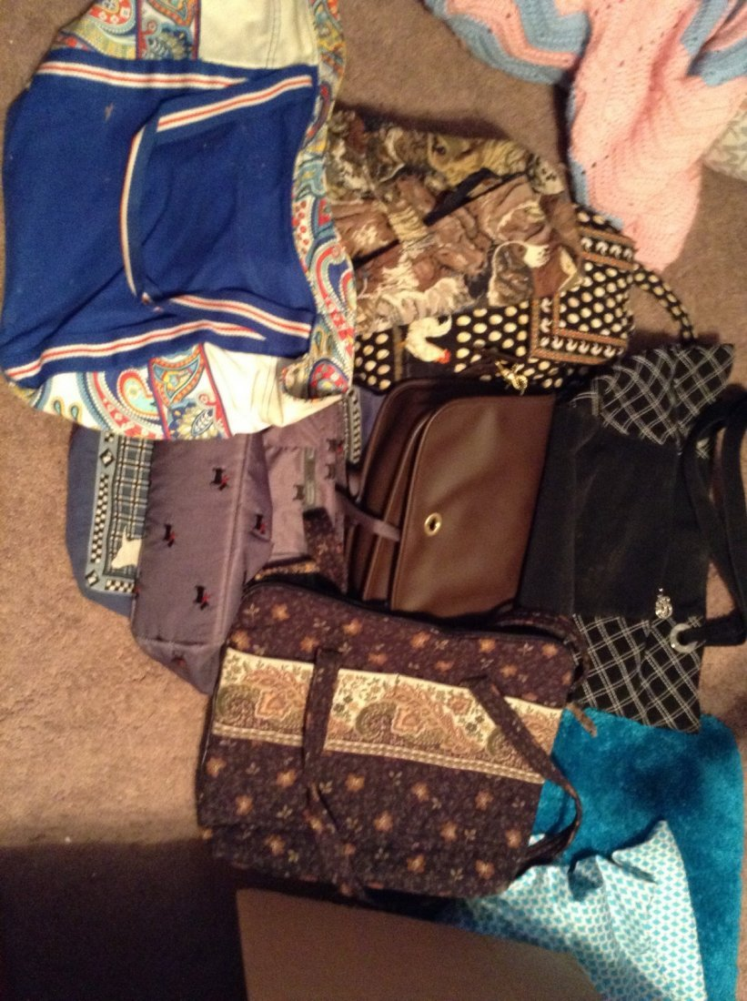 Lot of 8 assorted bags and handbags