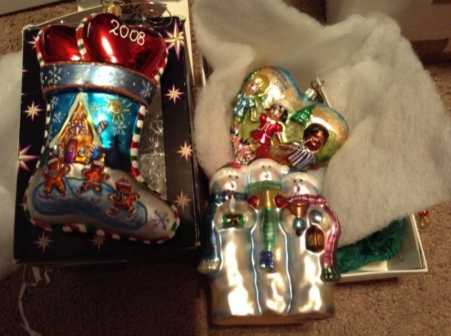 Lot of 3 Radko Christmas Ornament with tags