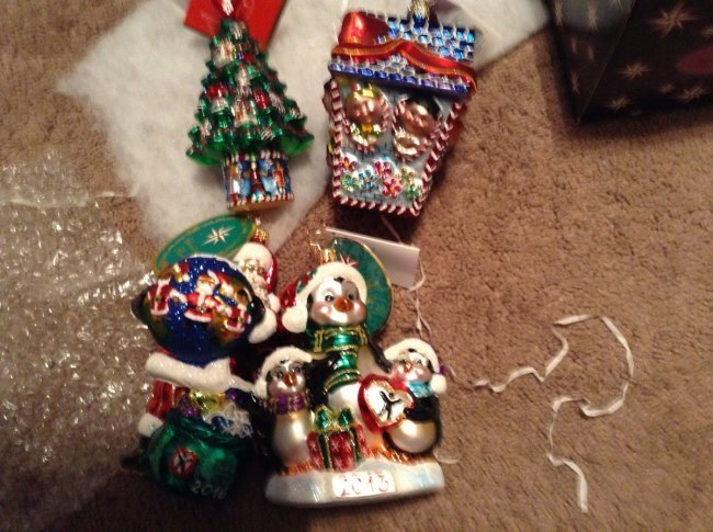 Lot of 4 Radko Christmas Ornament with tags