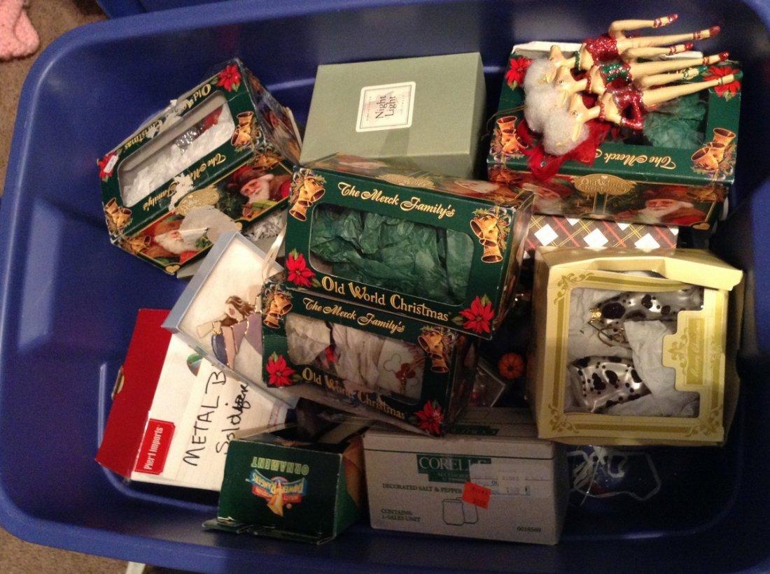Tub Full of Christmas Ornaments