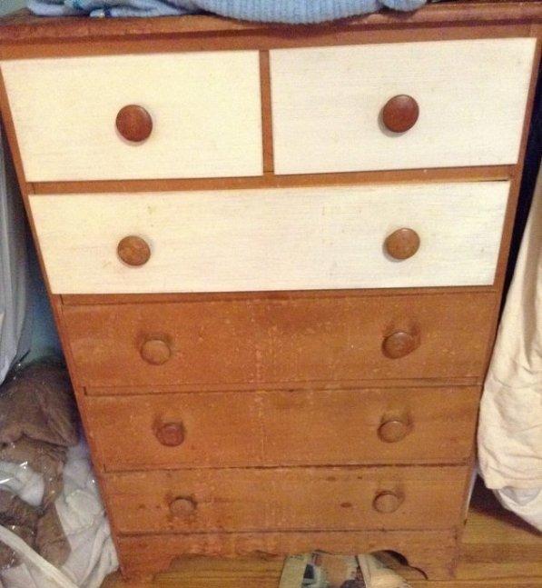 Vintage Pine Dresser, includes contents