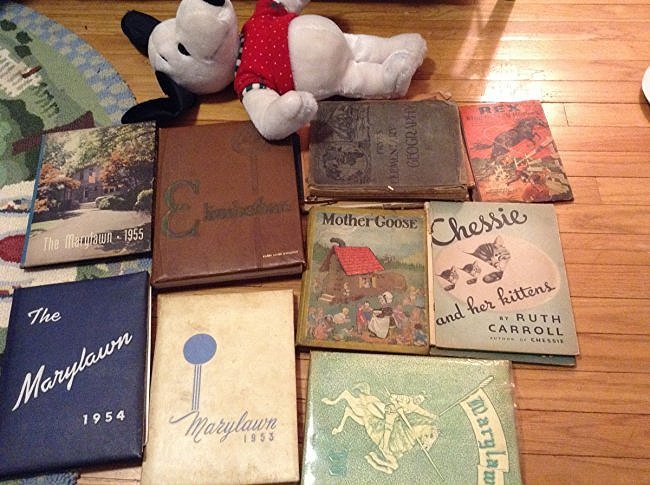 Vintage Children's Books, Snoopy and Vintage Year Books