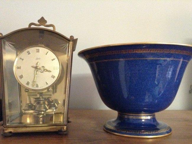 Wedge Wood Bowl and Lchatz clock