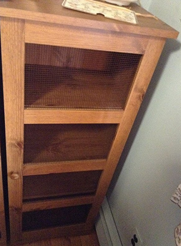 Wood Cabinet no contents