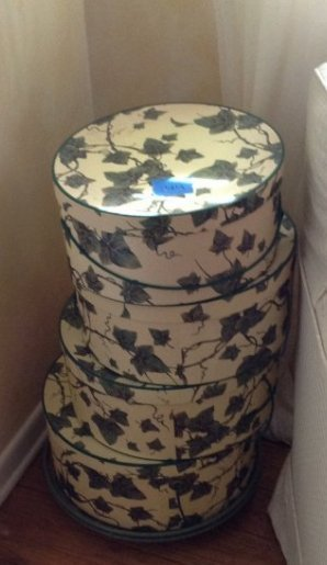 5 Vintage Hat Boxes with Contents