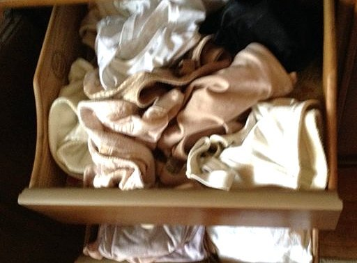 Complete Contents of Dresser including Silk Blouses and - 5
