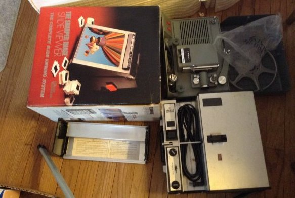 Slide Projector/ movie projector and screen