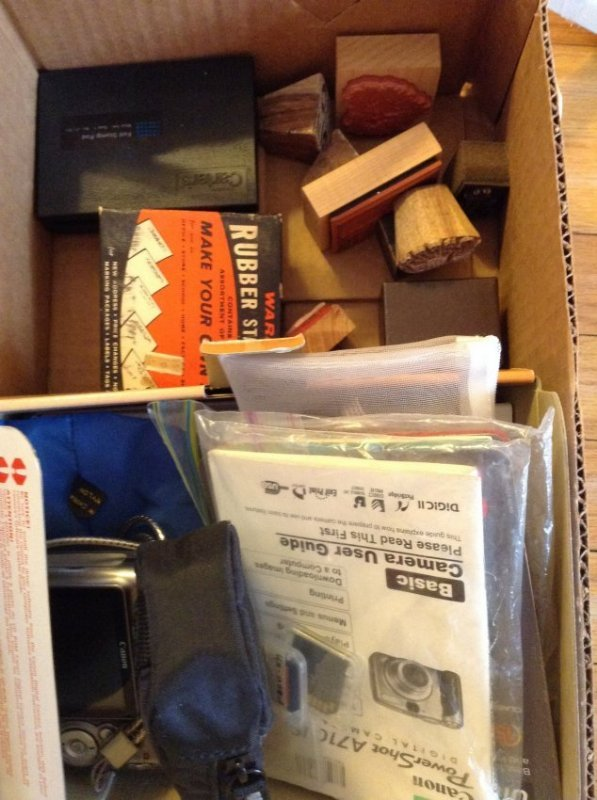 Canon Powershot Camera and Rubber Stamps