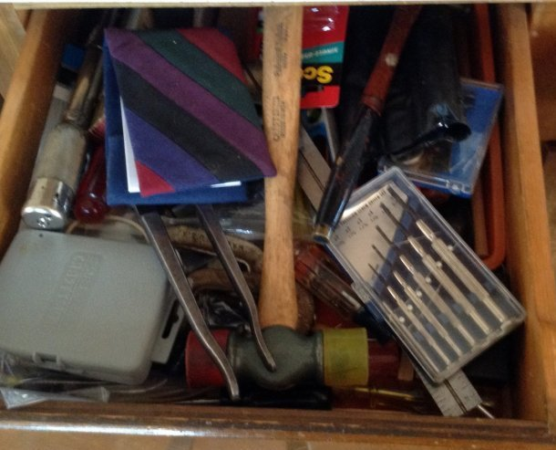 Tool drawer contents