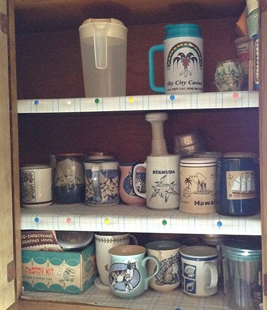 Cabinet with Coffee Mugs