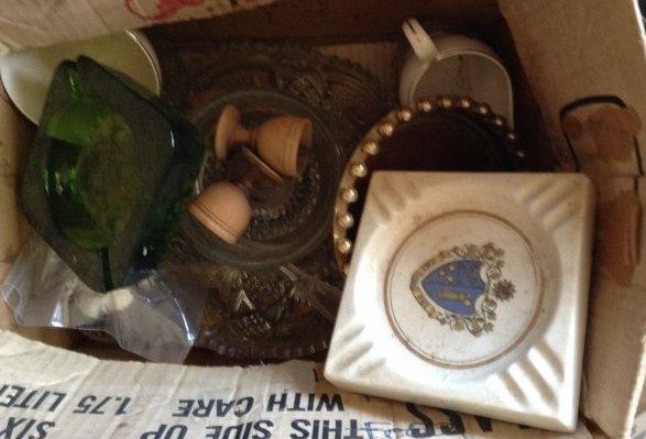 Mid century glassware ashtrays and more