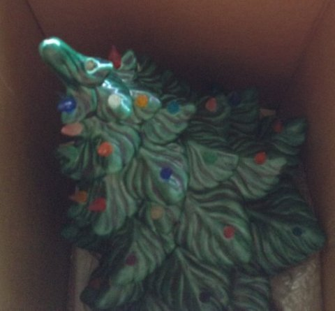 Vintage Ceramic Christmas Tree and Other Items