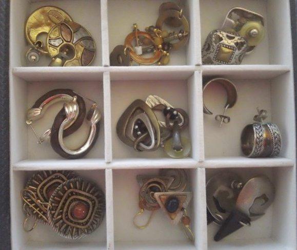 Vintage Earring pierced ears: 9 pair