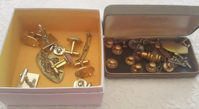 Vintage Cuff links and collar buttons