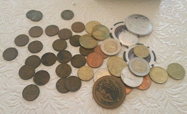 Wheat Pennies & Foreign coins