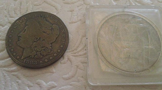 1883 and Ike Dollar coins