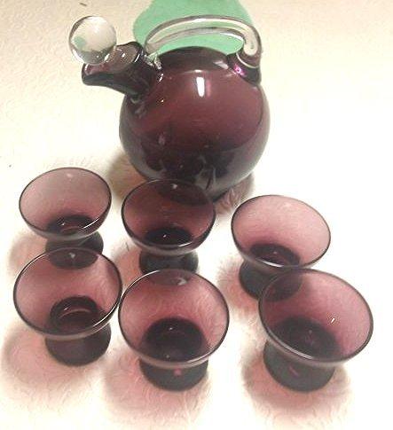 Glass Brandy set