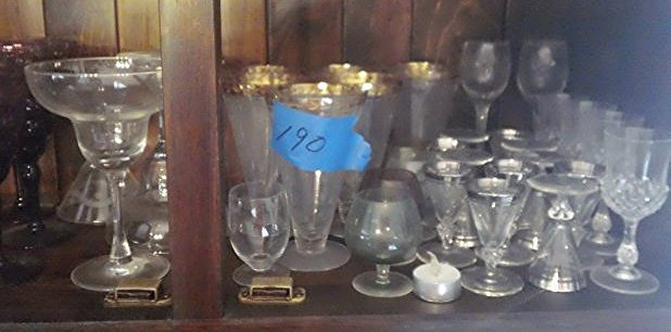 Mid- century glassware & Crystal glasses