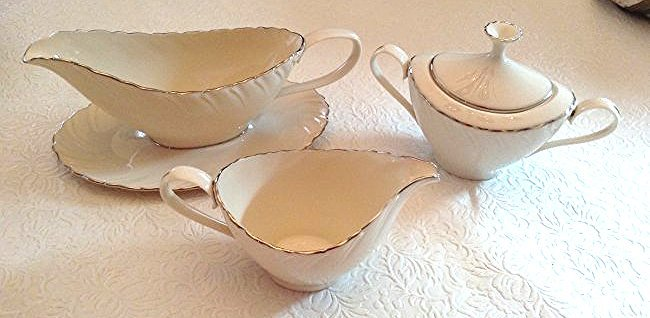 Lenox Weatherly Gravy Boat, cream & sugar