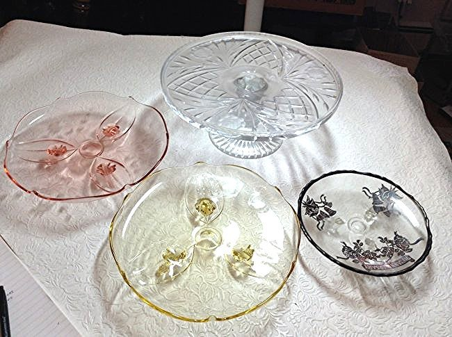 Footed plates cake stand & more
