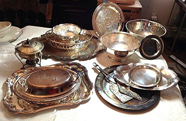 Silver plate lot of 15 pieces