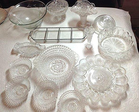 Cut & pressed glass lot - 2