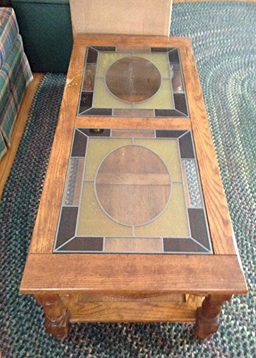 Stained Lead glass coffee table