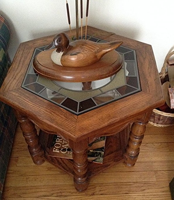 Leaded Glass Octagon shape end table