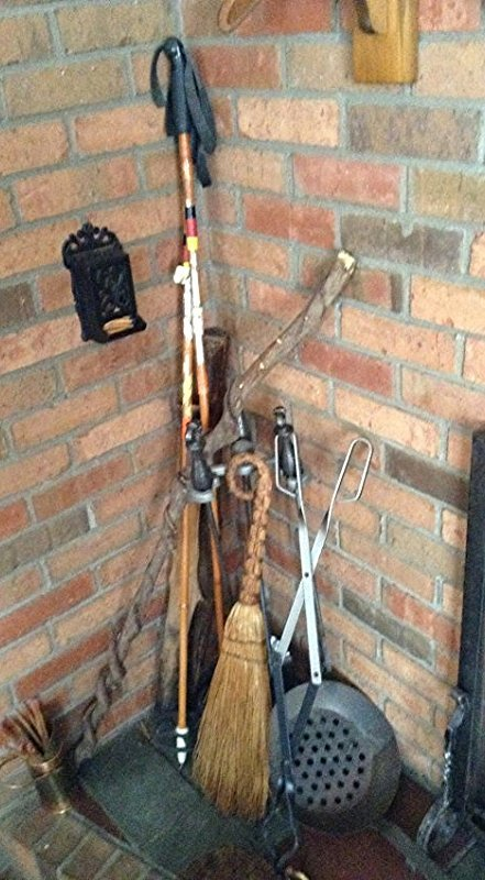 Trapp wood Ski Poles cast match holder walking sticks