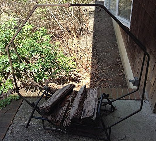 Firewood Rack on front porch