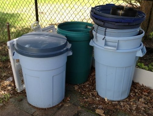 Garbage cans & lids