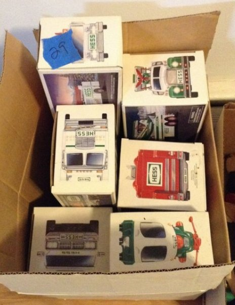 Lot of Hess toy trucks