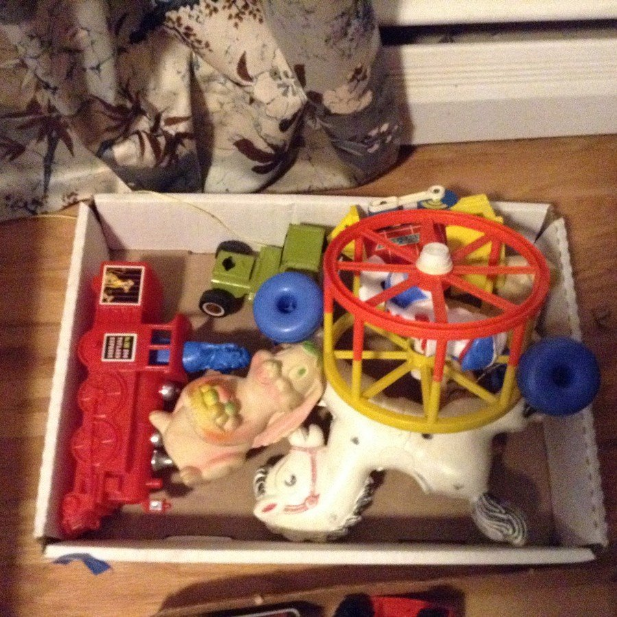Vintage Toys; Marx trucks, train and others