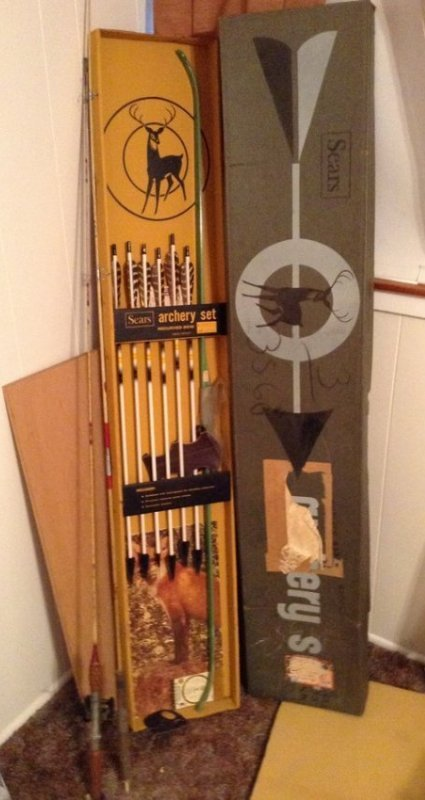 Sears ARCHERY set new in the box 1960s & 2 vintage