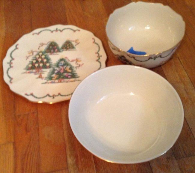 Lenox christmas plates and bowls