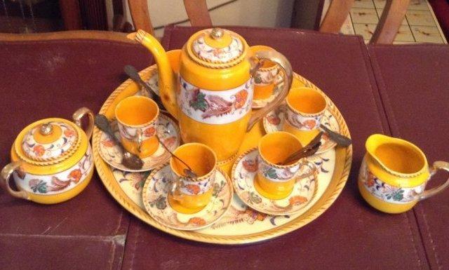 Jasperware Tea set and spoons