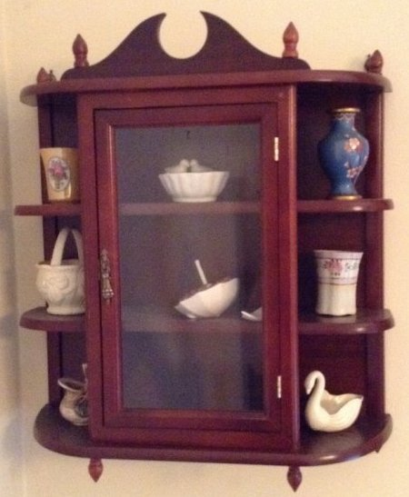 Hanging china closet with contents
