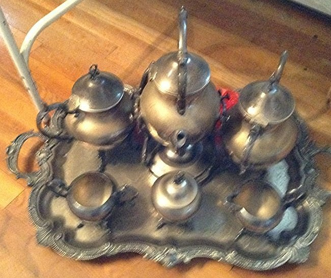 English Silver plate Tea serving set