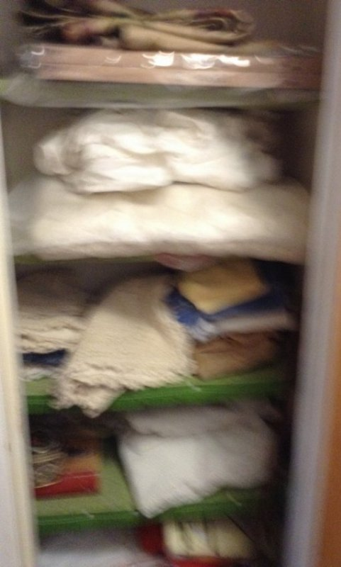 Contents of upstairs closet - 2