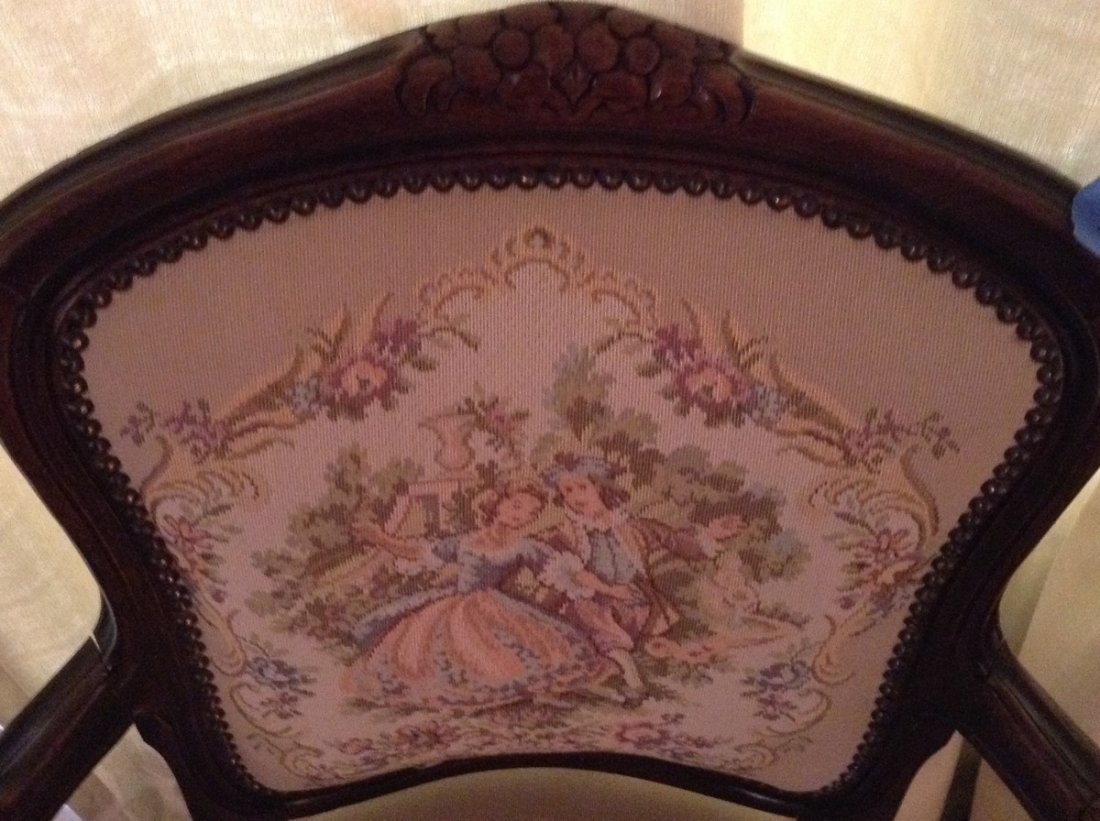 Hand stitched/ hand carved side chair - 2