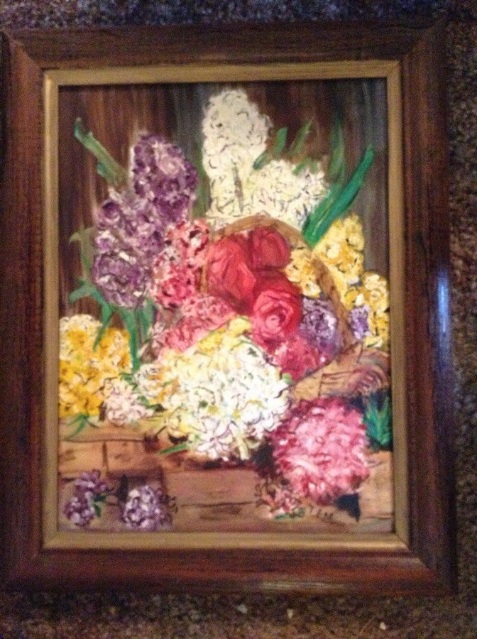 large lot of framed oil on boards, water colors