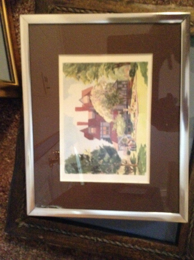 large lot of framed oil on boards, water colors - 2