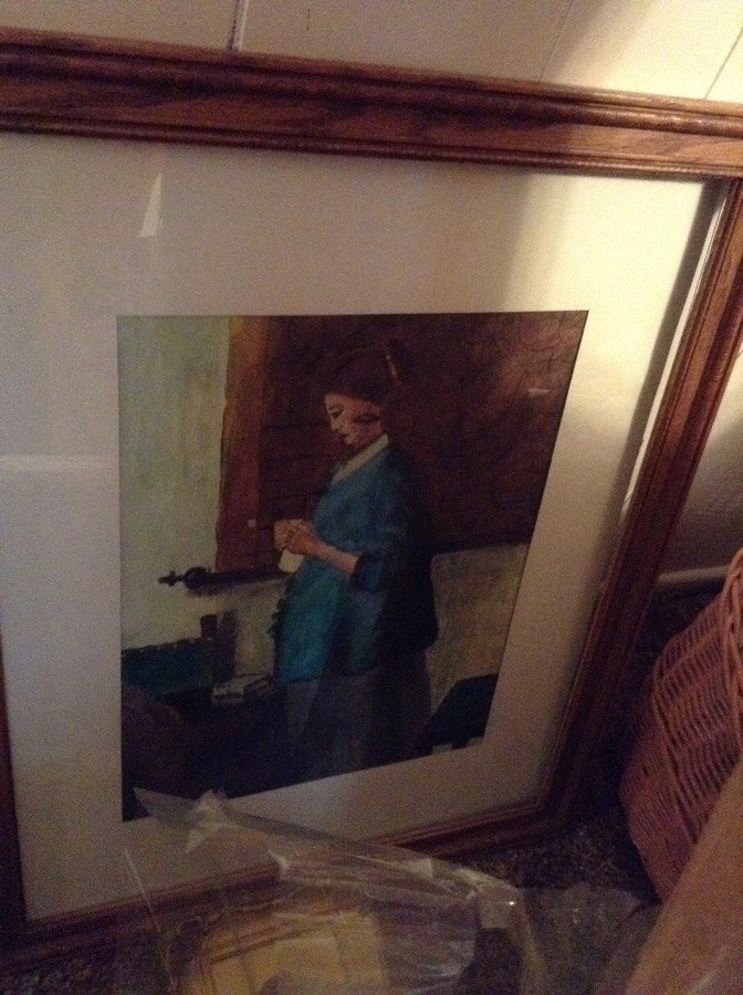 large lot of framed oil on boards, water colors - 8
