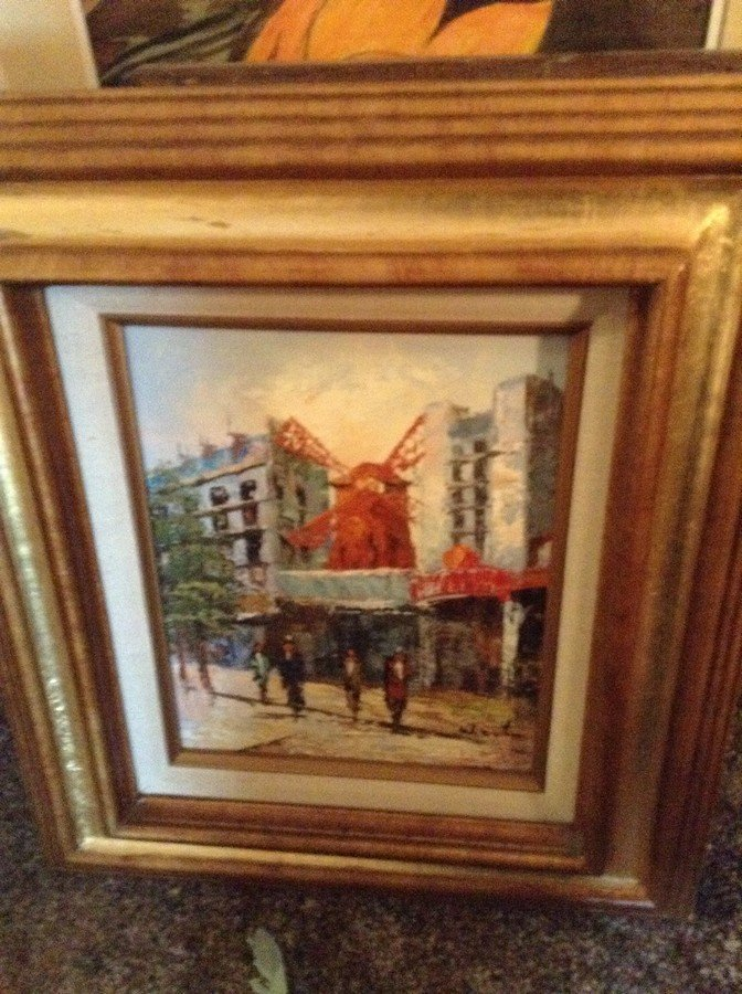large lot of framed oil on boards, water colors - 9
