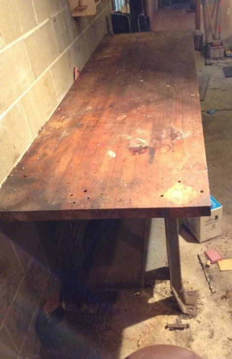 Oak Work Bench with Vice
